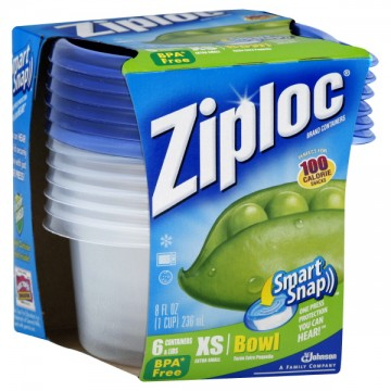 Ziploc Containers Single Serving With Lids 8 Oz Ea