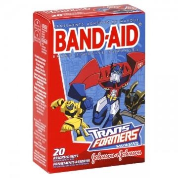Johnson & Johnson Band-Aid Bandages Transformers Assorted Sizes