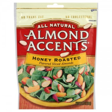 Almond Accents Flavored Sliced Almonds Honey Roasted All Natural