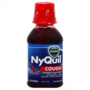 Vicks NyQuil Cough All-Night Relief Cherry Flavor