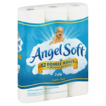 Angel Soft Bath Tissue Double Roll 2 Ply Unscented