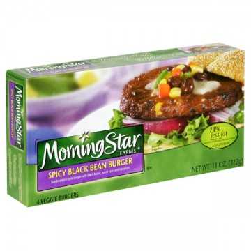 MorningStar Farms Veggie Burgers Spicy Black Bean - 4 ct Frozen