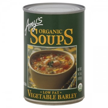 Amy's Soup Vegetable Barley Low Fat Organic