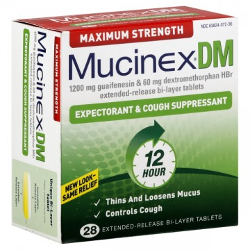 Mucinex DM Expectorant & Cough Suppressant Maximum Strength Tablets