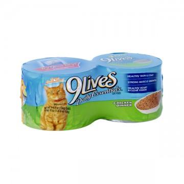 9 Lives Daily Essentials Wet Cat Food Chicken - 4 pk