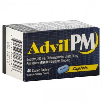 Advil PM Ibuprofen 200 mg Coated Caplets