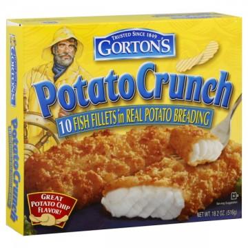 Gorton 39 s fish fillets potato crunch 10 ct frozen for Gorton s frozen fish