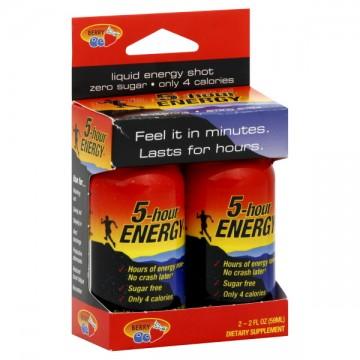 5-Hour Energy Original Berry Shot - 2 pk