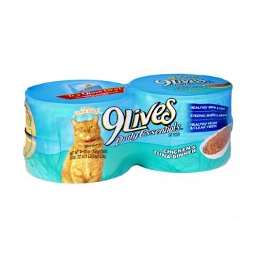 9 Lives Daily Essentials Wet Cat Food Chicken & Tuna - 4 pk