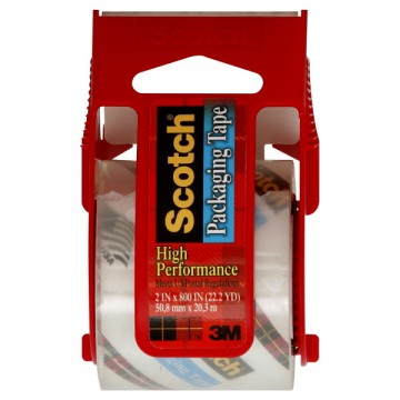 3M Scotch Packaging Tape High Performance Clear w/Dispenser 2 X 800 Inch