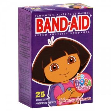 Johnson & Johnson Band-Aid Bandages Dora the Explorer Assorted