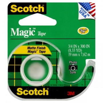 3M Scotch Magic Tape .75 X 300 Inch