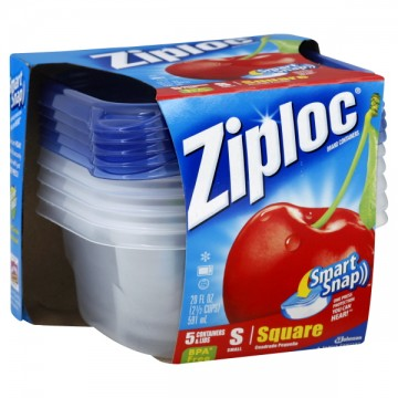 Ziploc Containers Square Small with Lids 20 oz