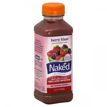 Naked Berry Blast 100% Juice Smoothie No Sugar Added All Natural