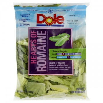 Salad Dole Hearts of Romaine All Natural
