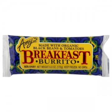 Amy's Breakfast Burrito Black Bean Organic