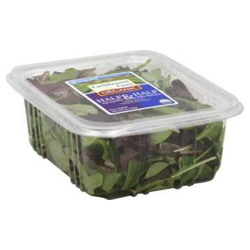 Salad Earthbound Farm Half Spring Mix & Half Baby Spinach Organic