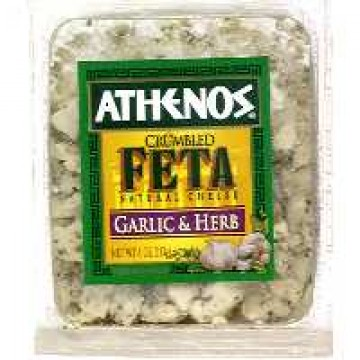 Athenos Cheese Feta Garlic & Herb Crumbled