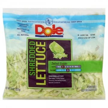 Lettuce Iceberg Shredded Dole Fresh Favorites