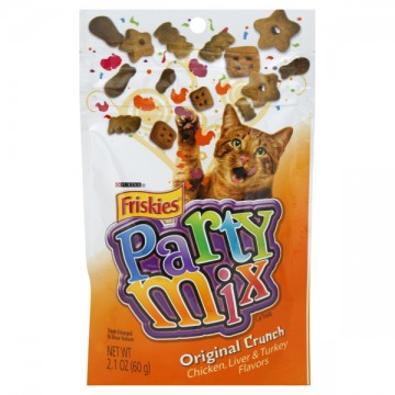 Friskies Party Mix Cat Treats Original Crunch