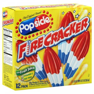Popsicle Ice Pops Firecracker - 12 ct