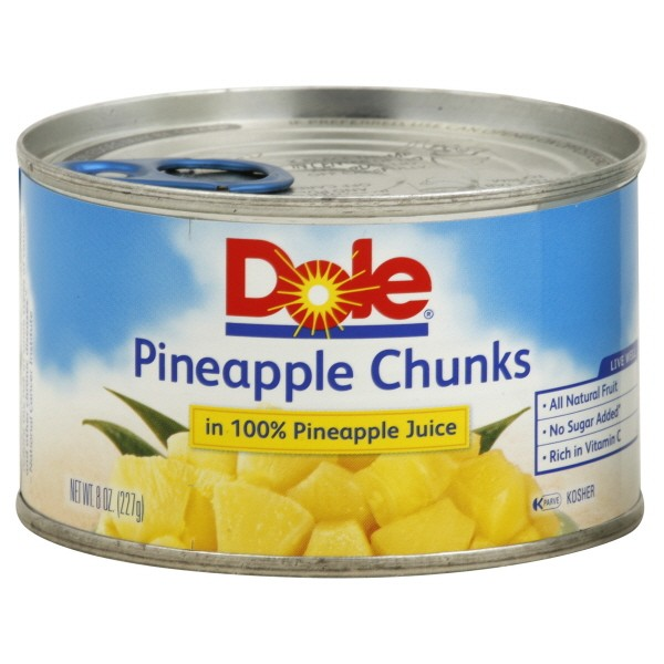 Dole Pineapple Chunks in 100% Pineapple