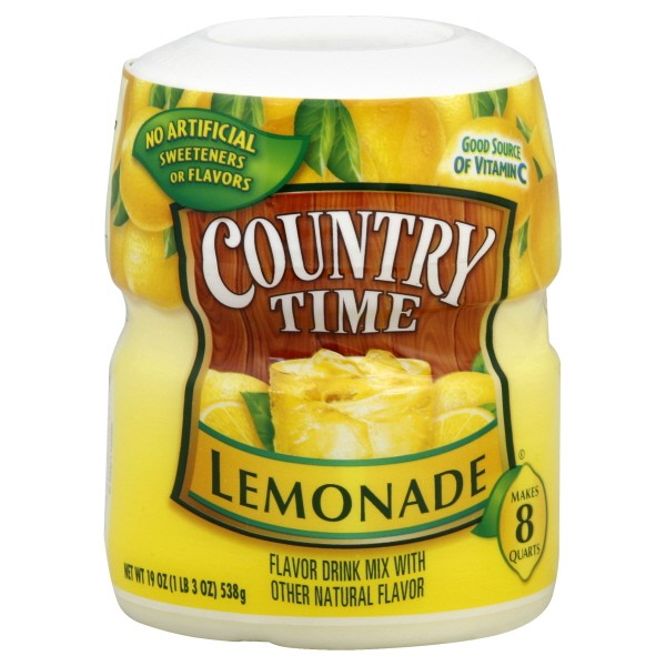Country Time Lemonade Drink Mix Sugar Sweetened Makes 8 Quarts