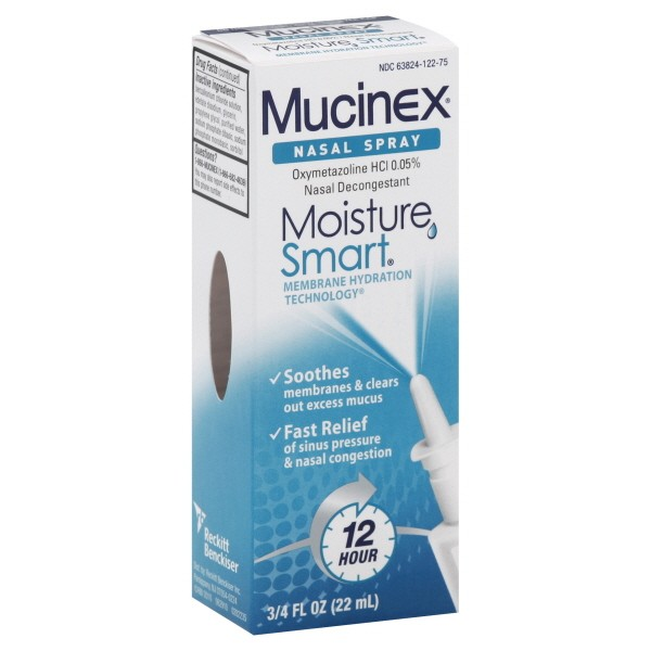 Mucinex Moisture Smart Nasal Spray 12 Hour Decongestant