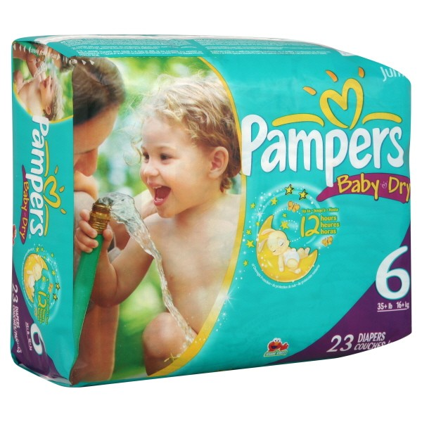 Pampers Baby Dry Diapers Size 6 Both Jumbo Pack 35 Lbs