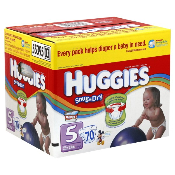 Snug & Dry Diapers Size 5 Both Big Pack - 27+ lbs