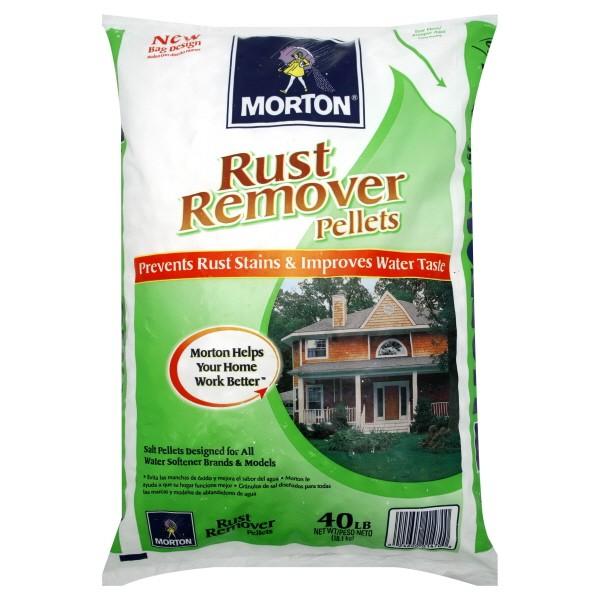 Morton Rust Remover Salt Pellets for Water Softeners