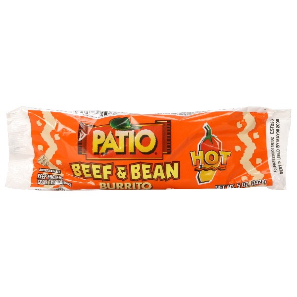 Good Patio Burrito Beef U0026 Bean Hot