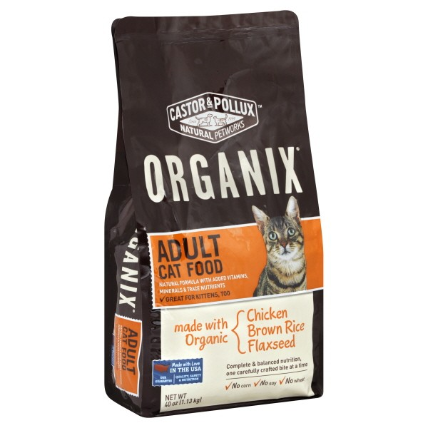 Castor Pollux Organix Dry Cat Food Chicken Brown Rice Flax Seed