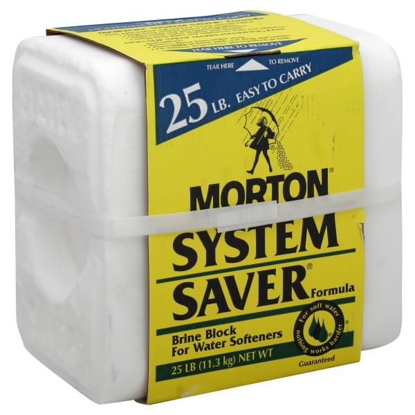 Morton System Saver Brine Salt Block for Water Softeners