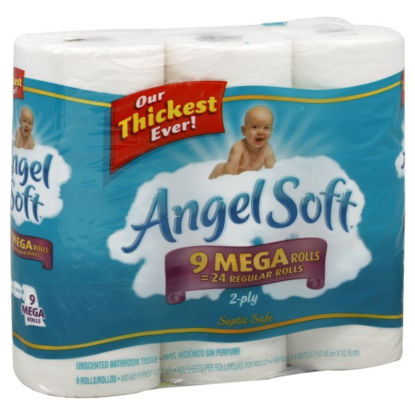 angel soft bath tissue mega roll 2 ply unscented