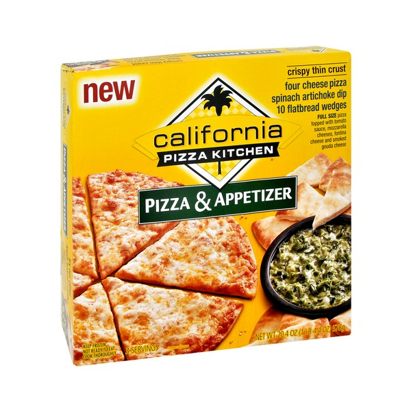 California Pizza Kitchen Pizza Cheese Crispy/Spinach Artichoke Dip Frozen