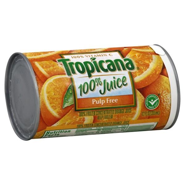 Tropicana 100% Orange Juice Pulp Free Frozen Concentrated