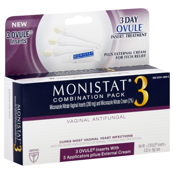 Monistat 3 Day Treatment With 3 Applicators