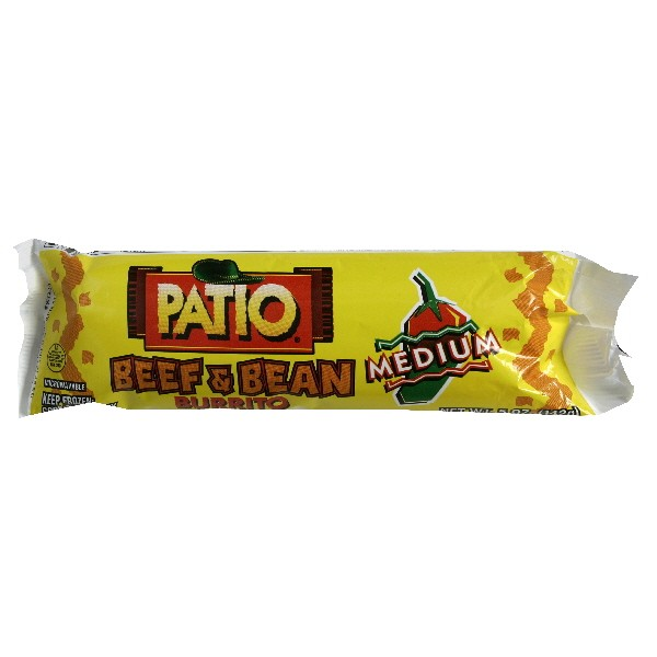Exceptional Patio Burrito Beef U0026 Bean Medium