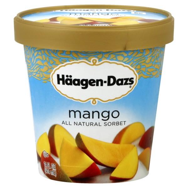 Haagen-Dazs Sorbet Mango All Natural