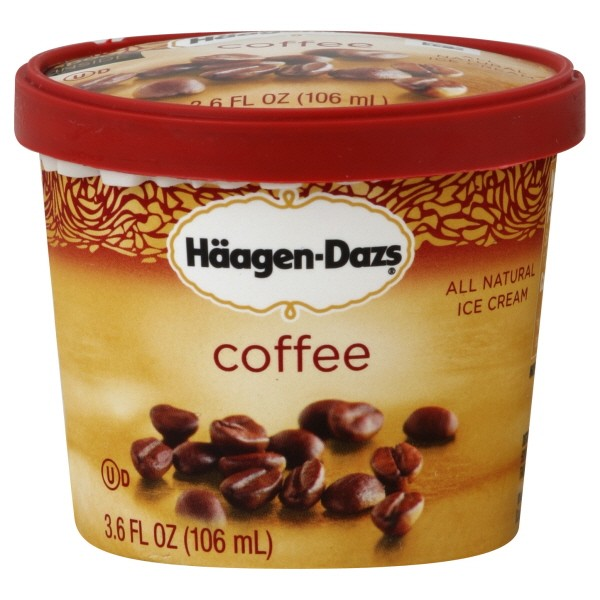 Haagen dazs single serve cups nutrition