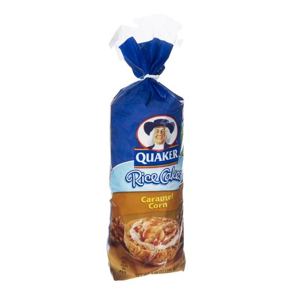 Quaker Rice Cakes Fat Free Caramel Corn Flavored