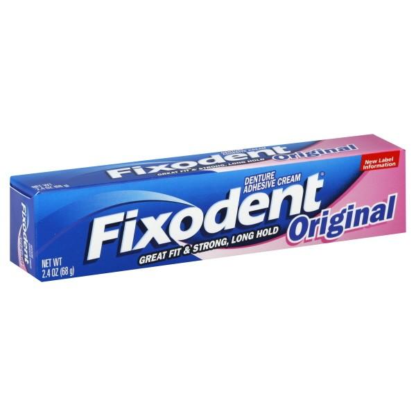 Fixodent Denture Adhesive Cream Original