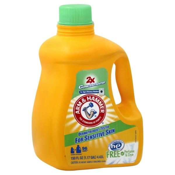 arm u0026 hammer 2x liquid laundry detergent he sensitive skin