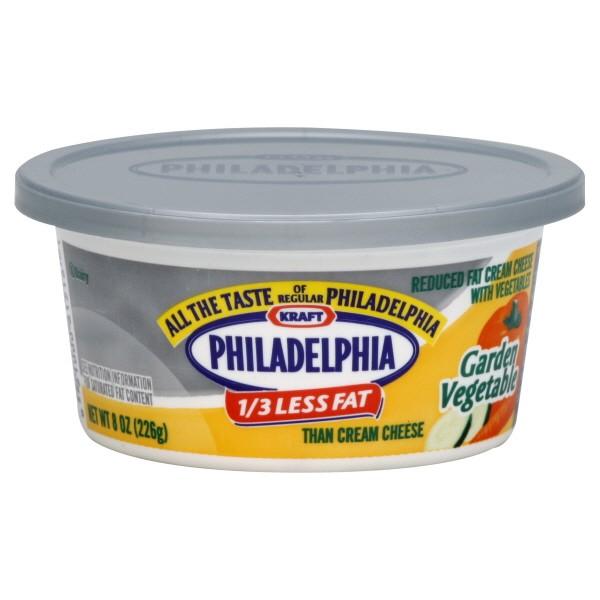 Kraft Philadelphia Cream Cheese Spread 1 3 Less Fat Garden Vegetable