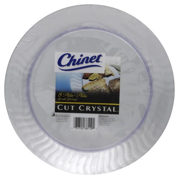 Cut Crystal Plates Plastic Clear 10 Inch
