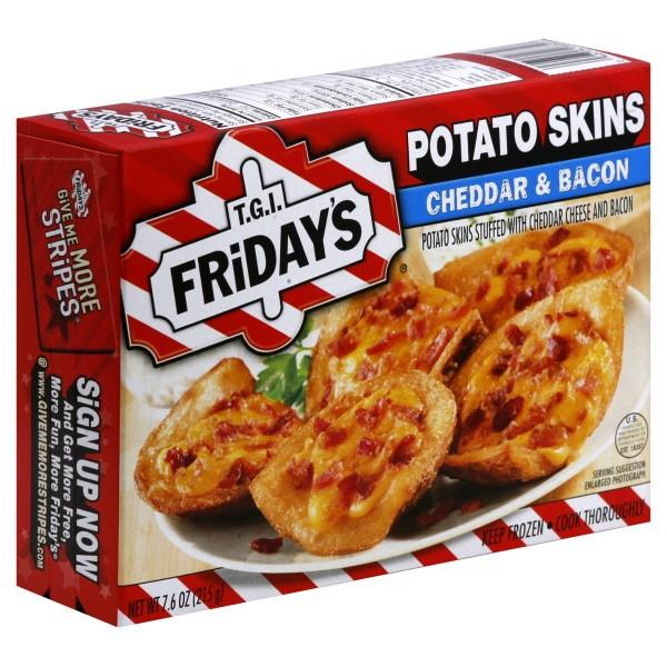 TGI Friday's Potato Skins Stuffed Cheddar & Bacon - 6 ct