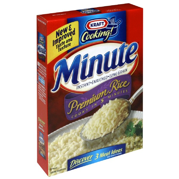 Instant White Rice : Kraft minute instant rice white premium long grain