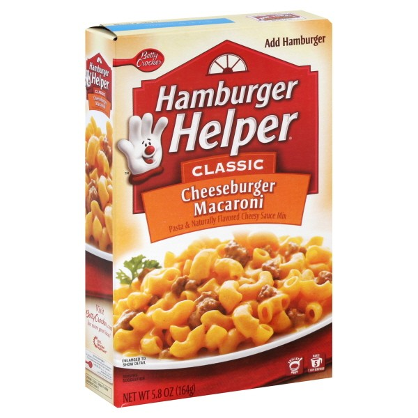 Betty crocker hamburger helper singles Betty Crocker Hamburger Helper Cheeseburger Macaroni