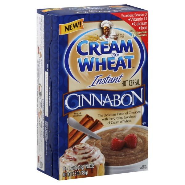 Nabisco Instant Cream Of Wheat Hot Cereal Cinnabon 10 Ct